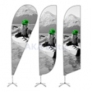 Folding tent beach flags