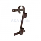 Single brown flag pole bracket