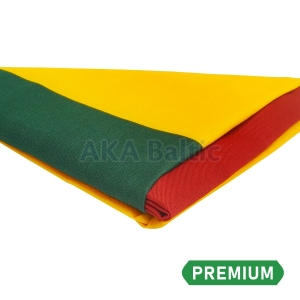 PREMIUM Lithuanian flag with snap hooks 100x170