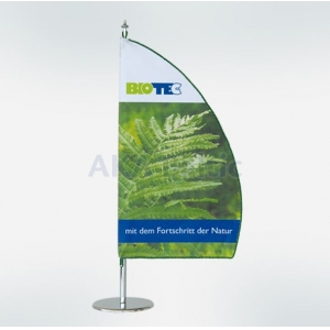 Different shapes and sizes table flags