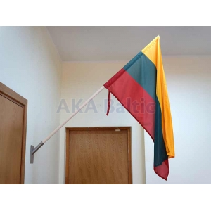 Wooden facade flagpole 1,5 m with Lithuanian flag