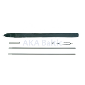 Aluminium portable sectional flagpole 2,8 m