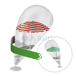 Double-sided curved advertising table flag