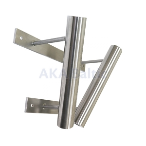 Double stainless steel bracket for flag pole 34