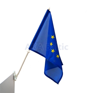 European Union Car Flag with holder