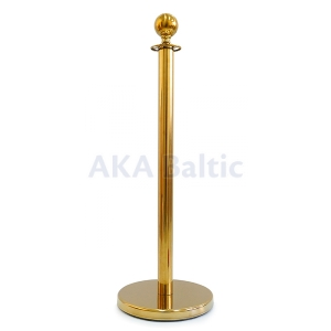 Barrier with round top gold