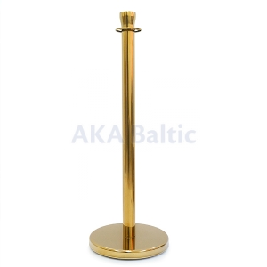 Barrier with flat top gold