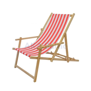 Promotional deckchair with armrests