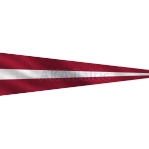 Pennant with the national flag of Latvia