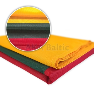 Lithuanian flag PRINTED with snap hooks 150x250