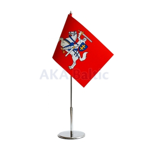 Historical Lithuanian table flag 15x25cm