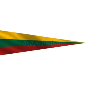 Pointed Lithuanian pennant flag