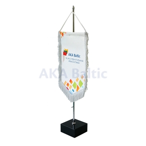 Table pennant flag base black 46/7,4