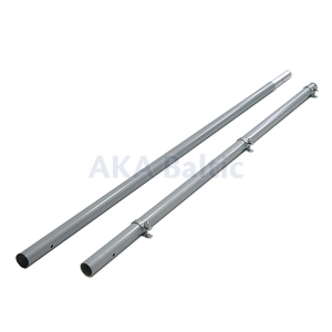 Sectional metal 2 m long flagpole