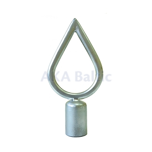 Finial for a standard flagpole without Columns Silver