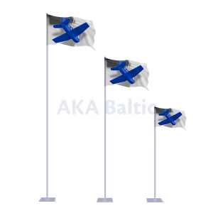 Portable sectional flagpole STANDART 280 cm