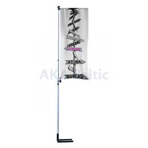Portable flagpole M-POLE 100