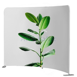 Mobile textile display MODERN CURVED STRONG