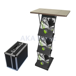 Foldable Counter with Brochure Holders
