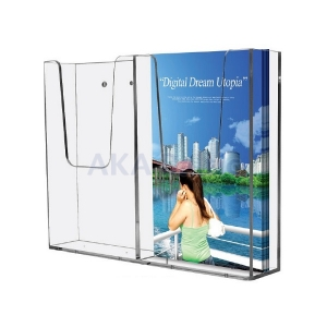 Wall Mounted Brochure Holder Double