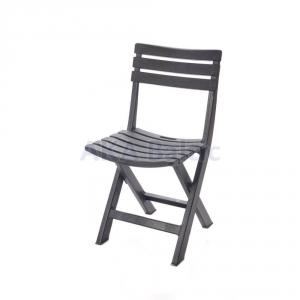 Black folding plastic chair