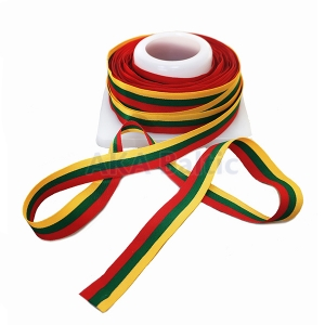 Woven tricolor ribbon 100mm