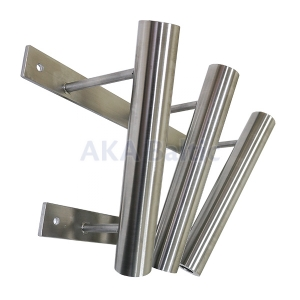 Triple stainless steel bracket for flag pole 34