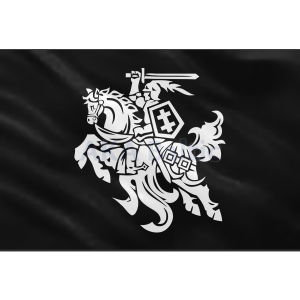 Vytis flag IV BLACK