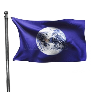 The Earth Day flag with snap hooks 100x170
