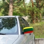 Car mirror cover with Lithuanian flag