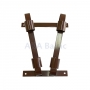 Double brown flag pole bracket